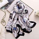 MENGYANG Seidentuch Frauen Schal Modedruck Seidenschals Für Damenschals Und Wickel Hijab Schals Foulard Weibliches Halsband