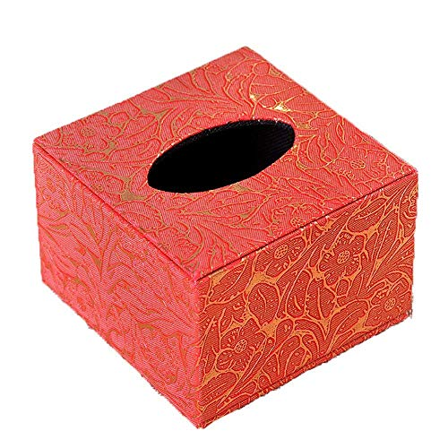 Cuero Cuadrado Estilo Europeo - Tallado Toalla de Papel Hogar Baño Negocios Impermeable Servilleta Rojo 11x11x8cm Phoenix Jzx-n, color Girasol 11x11x8cm