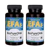 Swanson Biopure Dha Fish Oil Chewable Softgels 550 Milligrams 60 Sgels (2 Pack)