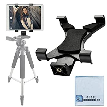 Acuvar Tablet Holder Tripod Mount  Universal  fits iPad Tablets and Other Tablets + an eCostConnection Microfiber Cloth