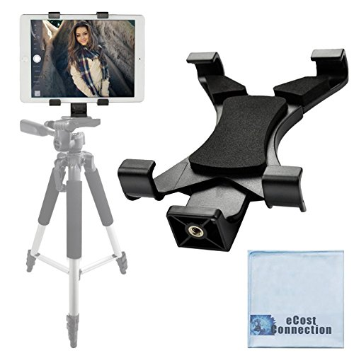 Acuvar Tablet Holder Tripod Mount (Universal) fits iPad Tablets and Other Tablets + an eCostConnection Microfiber Cloth