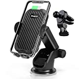 2021 Upgraded Wireless Car Charger, 15W Qi Fast Charging Auto-Clamping Phone Car Holder Compatible for iPhone 12/Xs Max/XR/X/8Plus Samsung S20/S10/Note10