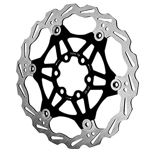 Runfun Aleación Centro Bicicleta del Rotor del Freno De Disco De Bicicletas De Bloqueo De Aluminio De Acero De 180 Mm Negro Mountain Bike MTB Accesorios De Bicicletas