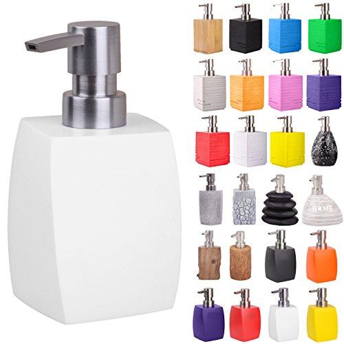 Seifenspender | viele schöne Seifenspender zur Auswahl | elegantes, stylisches Design | Blickfang für jedes Badezimmer (Wave Weiß)