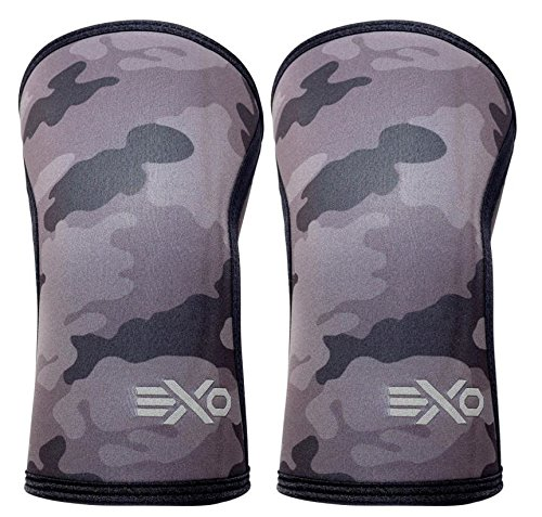 EXO Sleeve Compression Knee Sleeves Designed with Triple-Reinforcement and Anti-Microbial Neoprene, Sold as 1 Pair