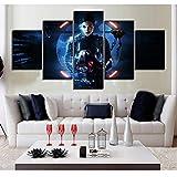 juntop Decoración del hogar póster Imagen Pared Arte 5 Grupo Ciencia ficción Lienzo Pintura impresión Sala de Estar-Marco