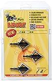 MAGNUS Black Hornet 2 Blade Broadhead (3 Pack), Black, 100 Grain