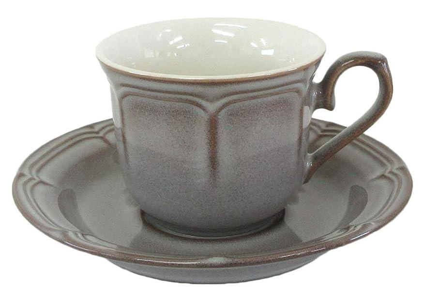 ビバ外交官東コーヒーカップ&ソーサー ラフィネ ストームグレー カフェ 食器 業務用