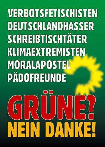 Aufkleber/Sticker - Die Grünen sind. (Sticker-Set 10 Stück), Habeck, Baerbock, Diesel, Fahrverbot, Klimawandel, Klimaschutz