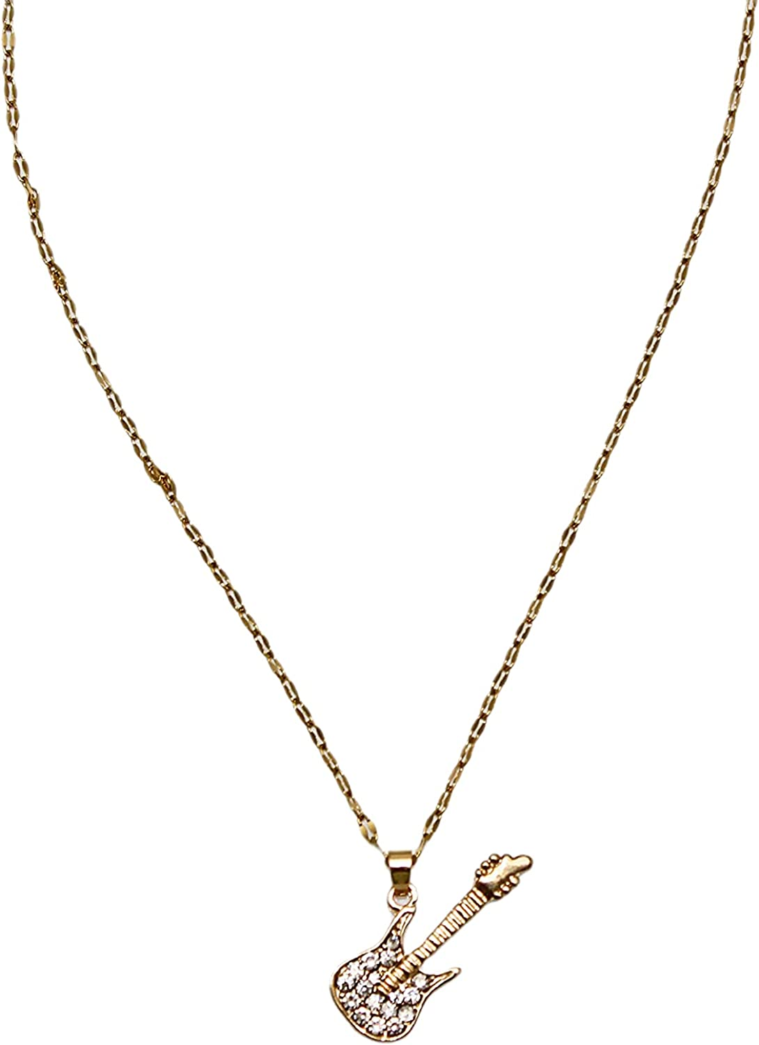 Qianxiang handmade 18K Gold Plated y Pendant Necklace diamond Guitar Necklace adjustable necklace women's necklace 2021