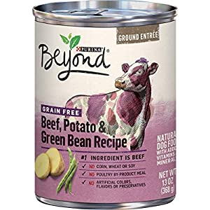 Purina Beyond Grain Free Beef, Potato & Green Bean Recipe Ground Entree Adult Wet Dog Food – (12) 13 oz. Cans (Packaging May Vary)