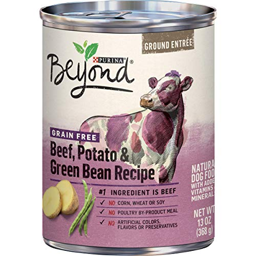 Purina Beyond Grain Free Beef, Potato & Green Bean Recipe Ground Entree Adult Wet Dog Food - (12) 13...