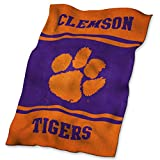 Logo Brands NCAA Clemson Tigers UltraSoft Blanket, One Size, Team Color