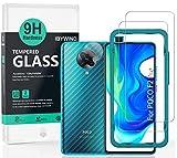 Ibywind Bildschirmschutzfolie für das Poco F2 Pro/Redmi K30 Pro [2 Stück] mit Kamera Schutzfolie, Carbon Fiber Skin für die Rückseite, Inklusive Easy Install Kit (Zentrierrahmen)