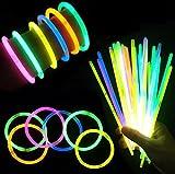 (iSmile) 光る ブレスレット 蛍光 ケミカルライト ペンライト 10色 100本セット 縁日 景品 イベント 用