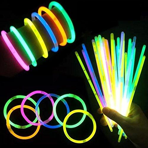 (iSmile)光るブレスレット蛍光ケミカルライトペンライト10色100本セット縁日景品イベント用