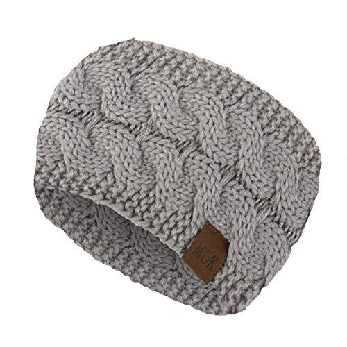 Single Trendy Soft Headbands for Womens Warm Knitting Headband Elasticity Sports Yoga Gym Exercising Running Headband for Washing Face makeup (One Size,Gray)