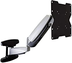 Monoprice Smooth Series Full-Motion Articulating TV Wall Mount Bracket - for TVs 42in to 66in Max Weight 66lbs Extension Range of 2.3in to 23.4in VESA Patterns Up to 200x200 Rotating
