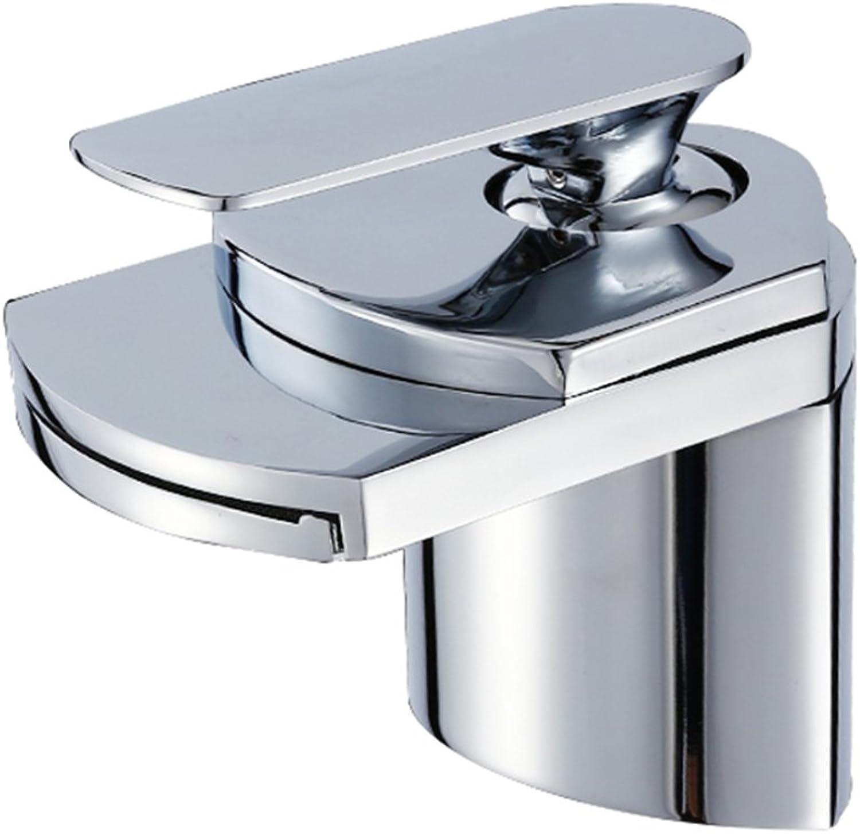 LaaN Kitchen Bathroom Copper Wash Basin Waterfall Basin Faucet Single-hole Faucet Basin Wash Basin