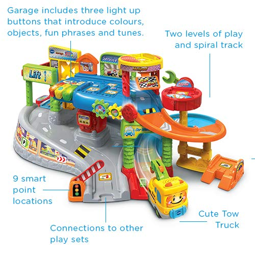 VTech Toot-Toot Drivers Garage, Kids Toy Garage with Music, Fun Phrases and Sounds, Baby Musical Car Track Toy for Boys and Girls 1, 2, 3, 4 and 5 Year Olds