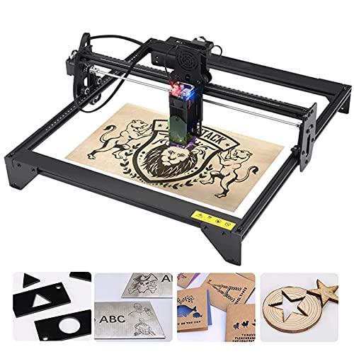 Laser Engraver, 20W Eye Protection Laser Engraving Machine, 5000mw Fixed Focusing Laser Printer Cutting Machine, Precise Engraving and Cutting, Engraving Area 40x41cm, for Metal, Vinyl, Wood, Leather