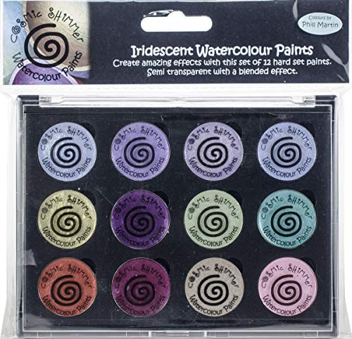 Creative Expressions CSIWPST9 Cosmic Shimmer Iridescent Watercolor Palette Set - 9-Frosted & Chic
