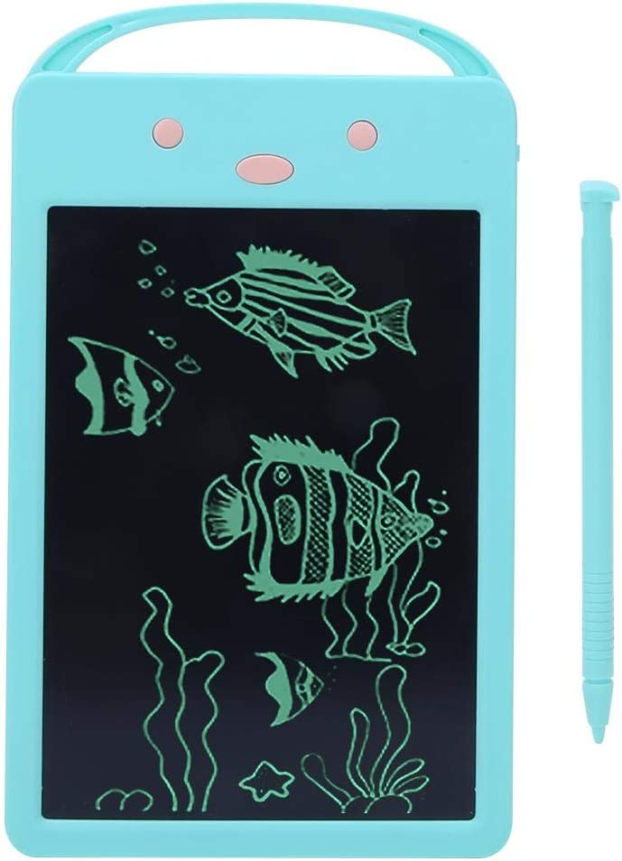 Blue Pokerty Kids Drawing Board Flexible LCD Writing Tablet Electronic Writing Board Sketchpad Toy Gift for Writing Calculus Painting