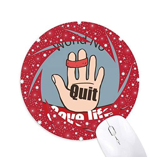 Logo Krawatte Der Index und die mittleren Finger retten Leben Rad Maus Pad Runde Red Rubber