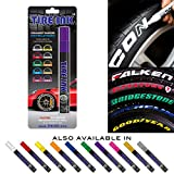 Tire Ink | Paint Pen for Car Tires | Permanent and Waterproof | Carwash Safe (Purple, 1 Pen)