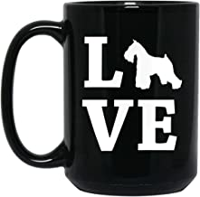 I Love My Miniature Schnauzer Funny Dog Owner Gift 15 oz. Black Mug