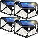 Solar Lights Outdoor 4 Pack, 100LED/3 Modes 270°...