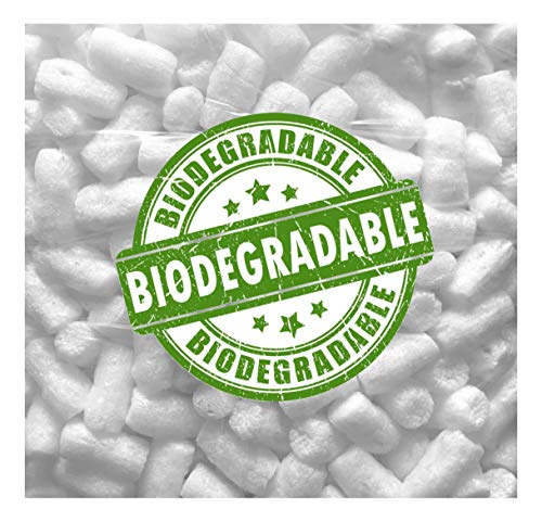Biodegradable Packing Peanuts 1.5 cu ft Compostable White Noodle Shaped