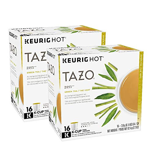 Keurig Tazo Zen Tea 16-Count K-Cups for Keurig Brewers (2 Pack, 32 cups)