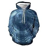 BDSY Sudaderas Hombres Túnelo De Tiempo Y Espacio Impresión Digital 3D Otoño E Invierno Big Bolsillo Hombres Y Mujeres Suéter con Capucha Universal-Cwy5434_Metro