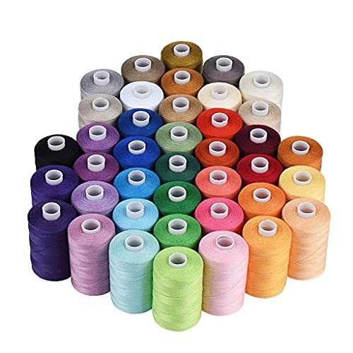ANWUYANG Huabian 40 Colores Hilo De Coser, 1000 Yardas De Costura De La Máquina De Coser 40s / 2 para Máquina De Coser Acolchado De Mano Bricolaje De Coser