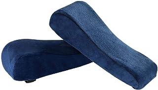 Fenteer Almohadillas de reposabrazos para silla y almohadillas de espuma de memoria para el codo para alivio de presión del antebrazo, Funda Universal para el - Azul