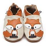 Suaves Zapatos De Cuero Del Bebé Zorro 12-18 meses