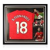 exclusivememorabilia.com Camiseta del Manchester United firmada por Bruno Fernandes. Marco Premium