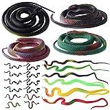 ONESING 22 Pcs Fake Snakes Rubber Snakes...