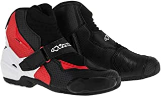 Alpinestars SMX-1 R Vented Boots - 12 US / 47 Euro/Black/White/Red