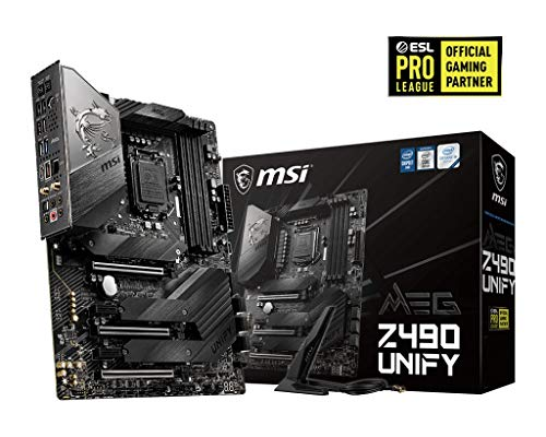 MSI MEG Z490 UNIFY Scheda Madre Gaming (ATX, 10 Gen Intel Core, LGA 1200 Socket, DDR4, SLI/CF, Triple M.2 Slots, USB 3.2 Gen 2, Wi-Fi 6)
