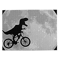 レックス 自転車 月 恐竜 Bike Moon Dinosaur 大人と子供のための木製ジグソーパズル500ピース、クリエイティブギフトの家の装飾のためのアートワークジグソーパズルおもちゃ