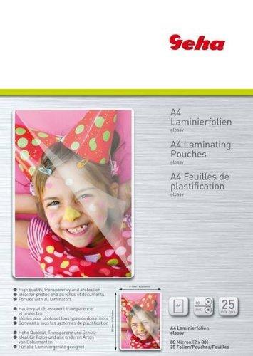 Geha Laminierfolie 80 mic 25er Pack A4