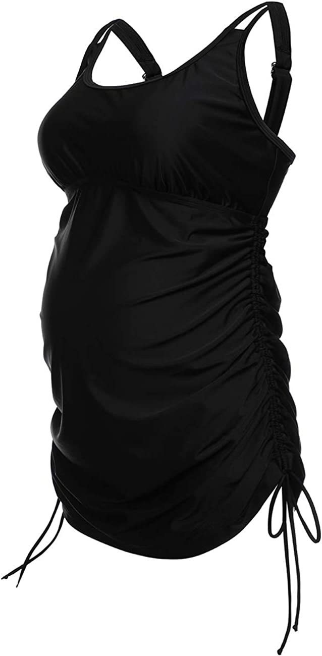 Dayu Women's Maternity Tankini Tops Plus Size Pregnant Swimwear L-3XL