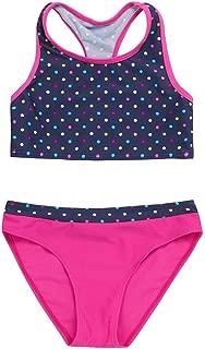 Renlinwell Baby Girls Swimsuit Two Piece Swimwear Ruffle Butterfly Beach Bathing Suit White