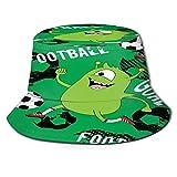 Yoliveya Sombrero de Pesca,Niños Lindos patrón de Monstruo niñas niños,Senderismo para Hombres y Mujeres al Aire Libre Sombrero de Cubo Sombrero...
