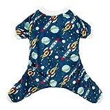 CuteBone Dog Pajamas Rocket Dog Apparel Dog Jumpsuit Pet Clothes Pajamas P16S