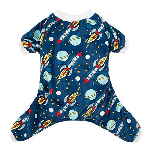CuteBone Rocket Dog Pjs XLarge Onesies Pet Clothes Jumpsuit Apparel Soft Pajamas P16XL