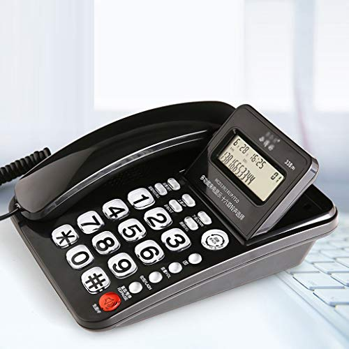 LXYFMS Big Button Alámbrico Teléfono Fijo Teléfono Fijo Teléfono Fijo Hogar Alámbrico teléfono Negro teléfono