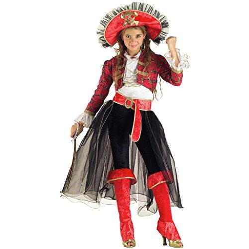 PRESTIGE & DELUXE Vestito Carnevale PIRATESSA Lady CORSARA Taglia 9 10 Anni